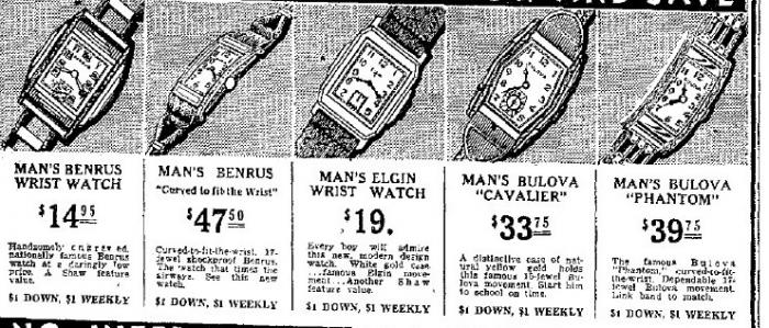1936 Bulova watch advert
