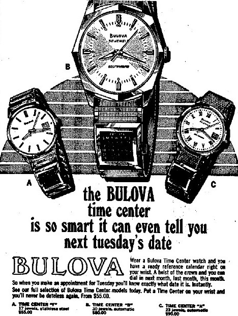 Bulova Time Center watches