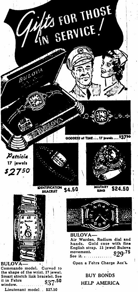 1943 Bulova Commando watch