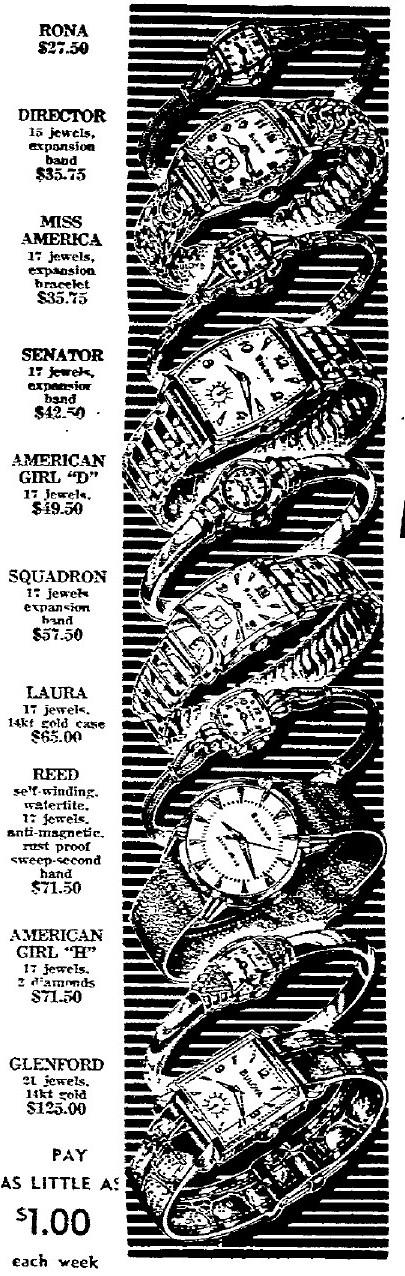 1954 Bulova Advert Reed