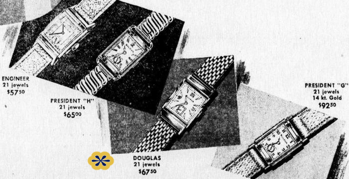 Bulova Ad featuring The Douglas
