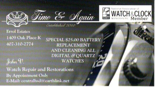 Time & Again (specializing in Bulova Accutron restoration and repair)