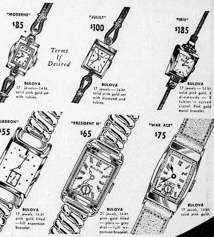 Bulova cocktail watches