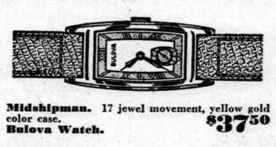 1943 Bulova Midshipman Ad
