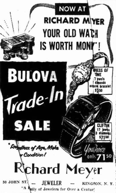 1954 Bulova watch advert