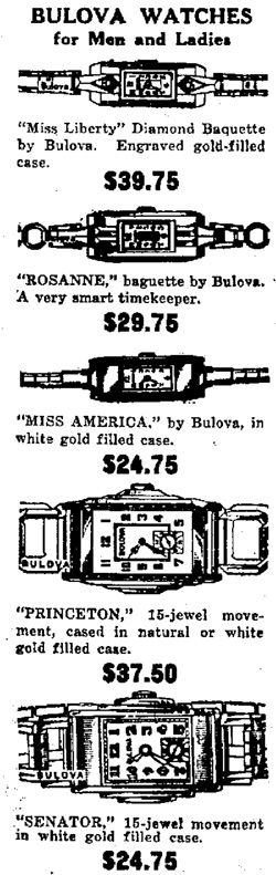 1932 Bulova Princeton watch advert