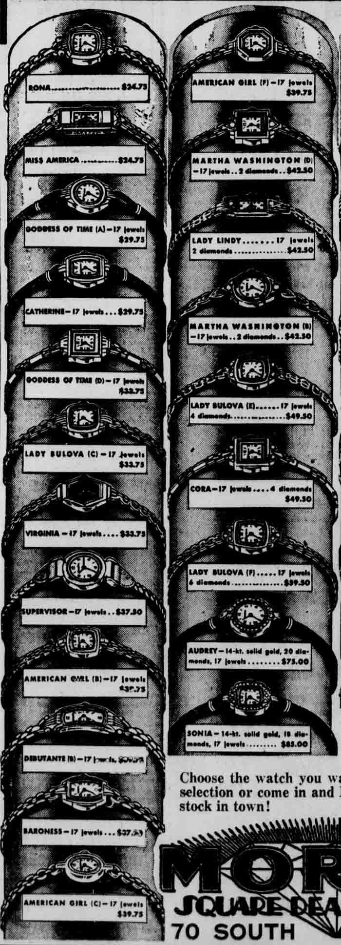 1937 Bulova Debutante