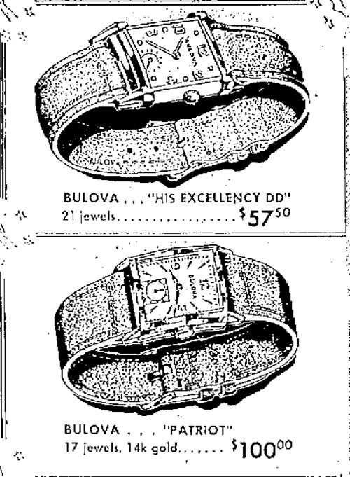 Bulova 1949 watch advert