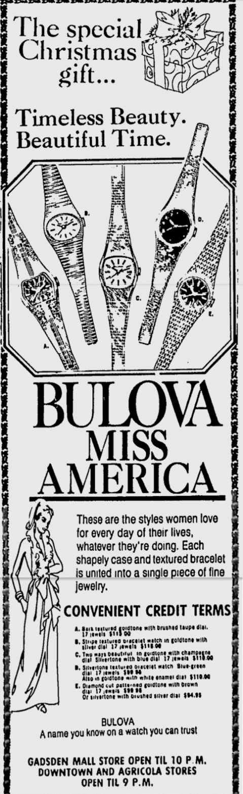 Bulova Miss America watch