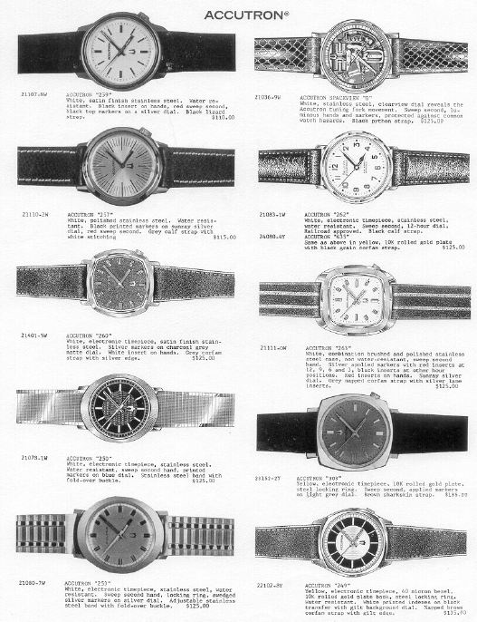 Bulova Accutrons watches