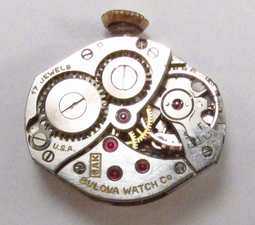 Movement 6AK, square pictomark date code for 1946, 17 jewels, USA made.