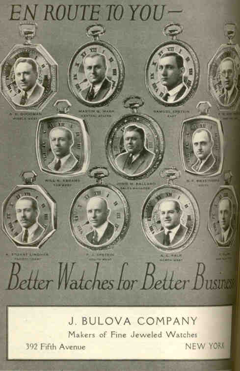Early Bulova Pocket Watch advert