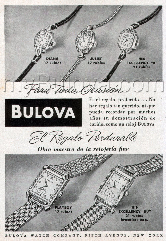 1949 Bulova watch advert