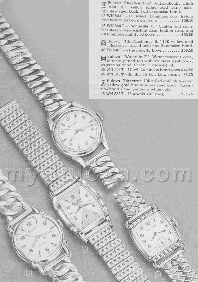 Bulova 1950 watch advert
