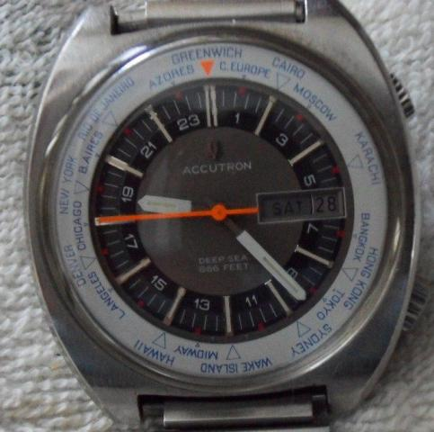 "Bulova 1970 Accutron Astronaut ""Mark I  World Time Zone"