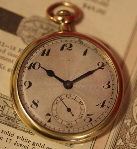 1293 Bulova pocket watch