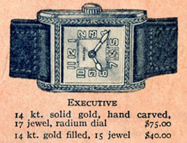 1926 Bulova Executive watch