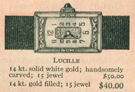 1926 Bulova Lucille watch
