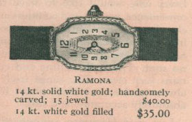 1926 Bulova Ramona watch