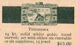 1926 Bulova Theodora watch