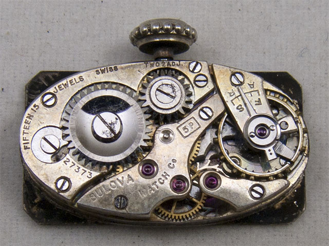 Bulova 5P watch movement