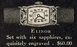 1927 Bulova Elinor watch