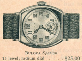 1927 Bulova Spartan watch
