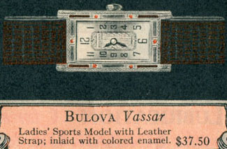 1927 Bulova Vassar watch