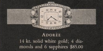 1928 Bulova Adoree watch