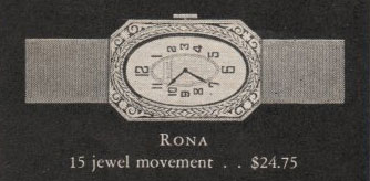 1928 Bulova Rona watch