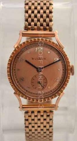 Geoffrey Baker 1946 Bulova Rose Gold Treasurer 11 21 2013