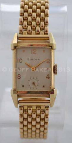 Geoffrey Baker 1947 Bulova His Excellency yellow watch 2 12 1 2013