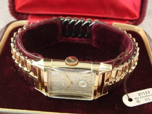 """1950 Bulova His Excellency """"M"""" 21J 8AD New Old Stock"""