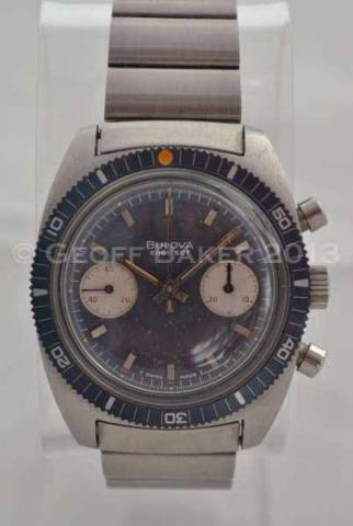 Geoffrey Baker 1971 Bulova Deep Sea Chronograph Watch