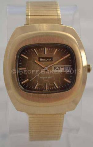 Geoffrey Baker 1973 Bulova TV Screen Gold Watch 11 29 2013
