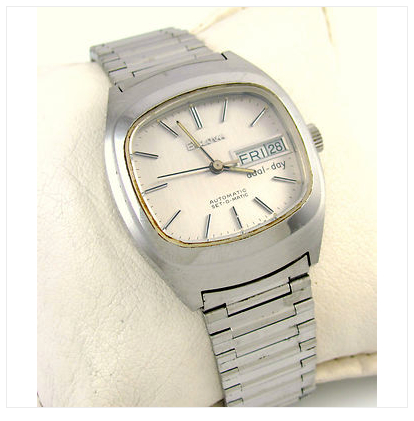 1977 Bulova Stainless Steel Automatic Set-O-Matic Dual Day
