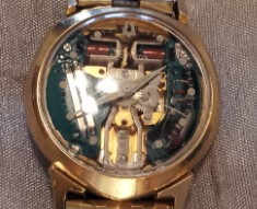 1967 14kt Yellow Gold Accutron Bulova Spaceview Watch