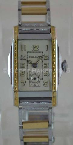 Geoffrey Baker 1932 Bulova Yellow and White Watch 022316