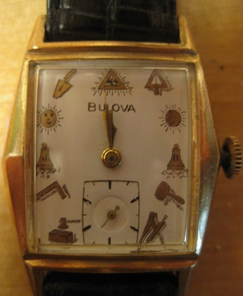 1945 Bulova watch masonic