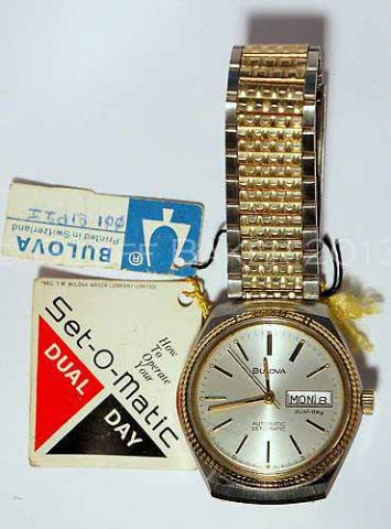 Geoffrey Baker 1978 Bulova Set O Matic Watch 11 30 2013