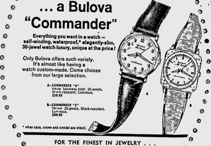 Bulova Commander watch