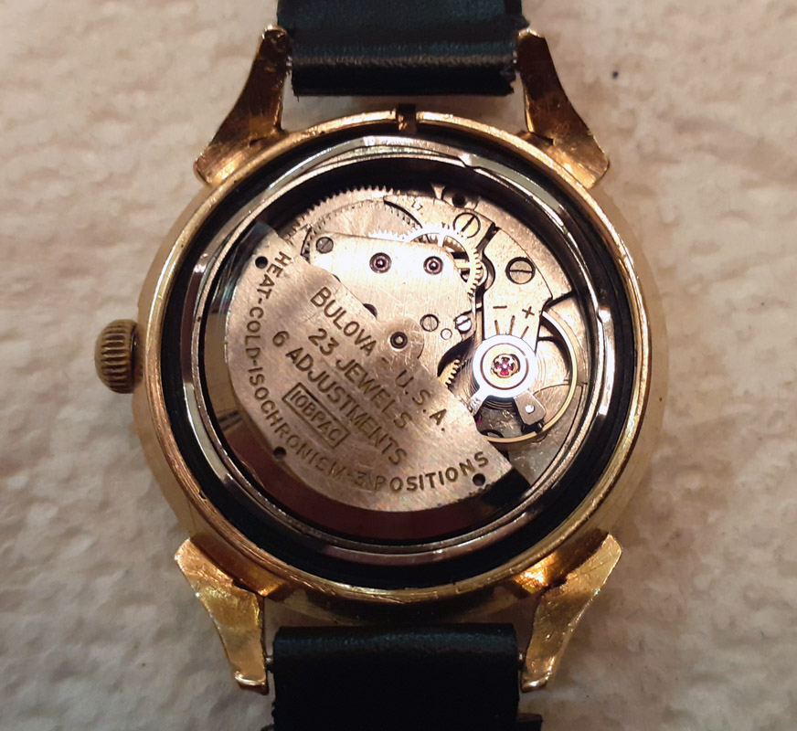 [10BPAC] Bulova watch back open