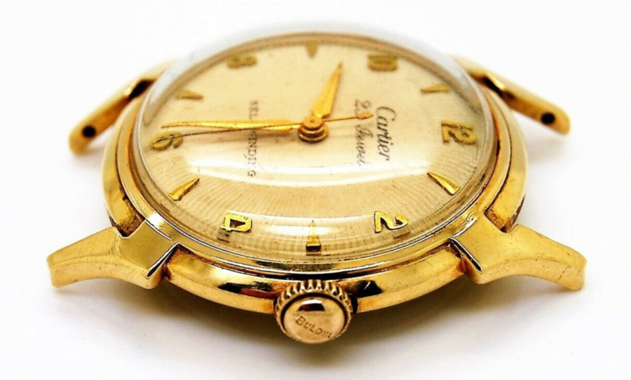 Cartier by Bulova 1956 14KT Gold with variant lightning bolt lugs
