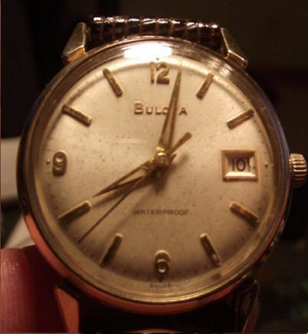 Date king 1964 Bulova watch