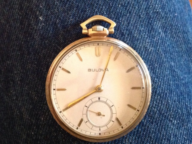 SgtJCJ 1940 Bulova Pocket watch 08 30 2014