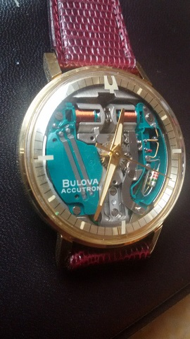 Bulova Chapter Ring Spaceview 18k watch