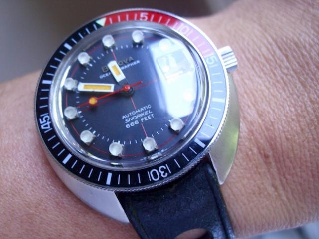1970 Bulova Oceanographer watch