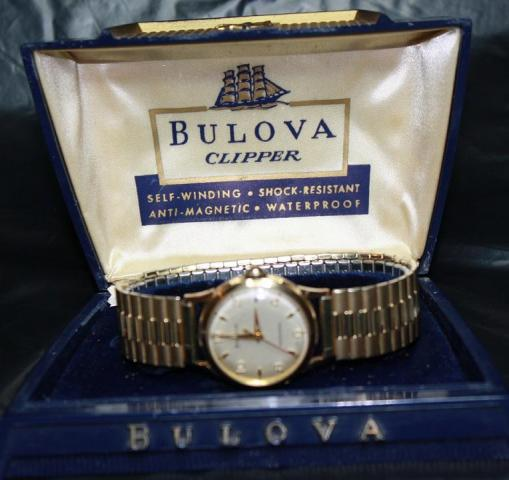 [field_year-1957] Bulova watch Clipper