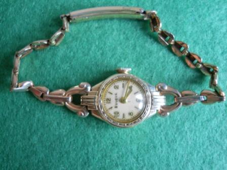 1939 Bulova watch Goddess of Time