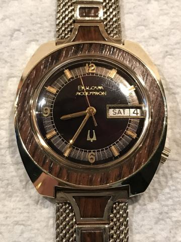 [1972 Accutron Date and Day Woody Bulova watch
